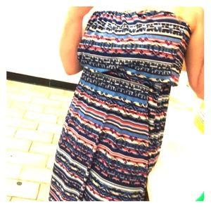 Trixxie Three Pink Hearts strapless maxi dress